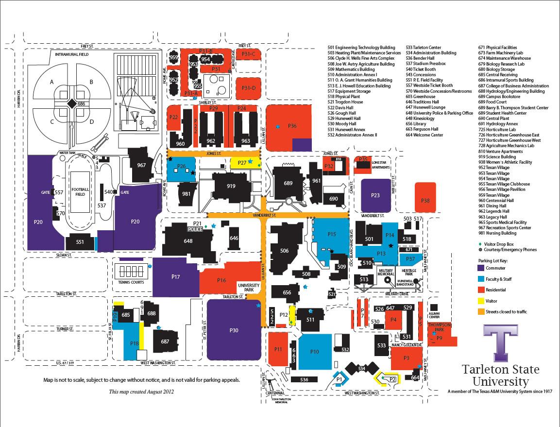 Blue light map | Texan News Service | Tarleton State University