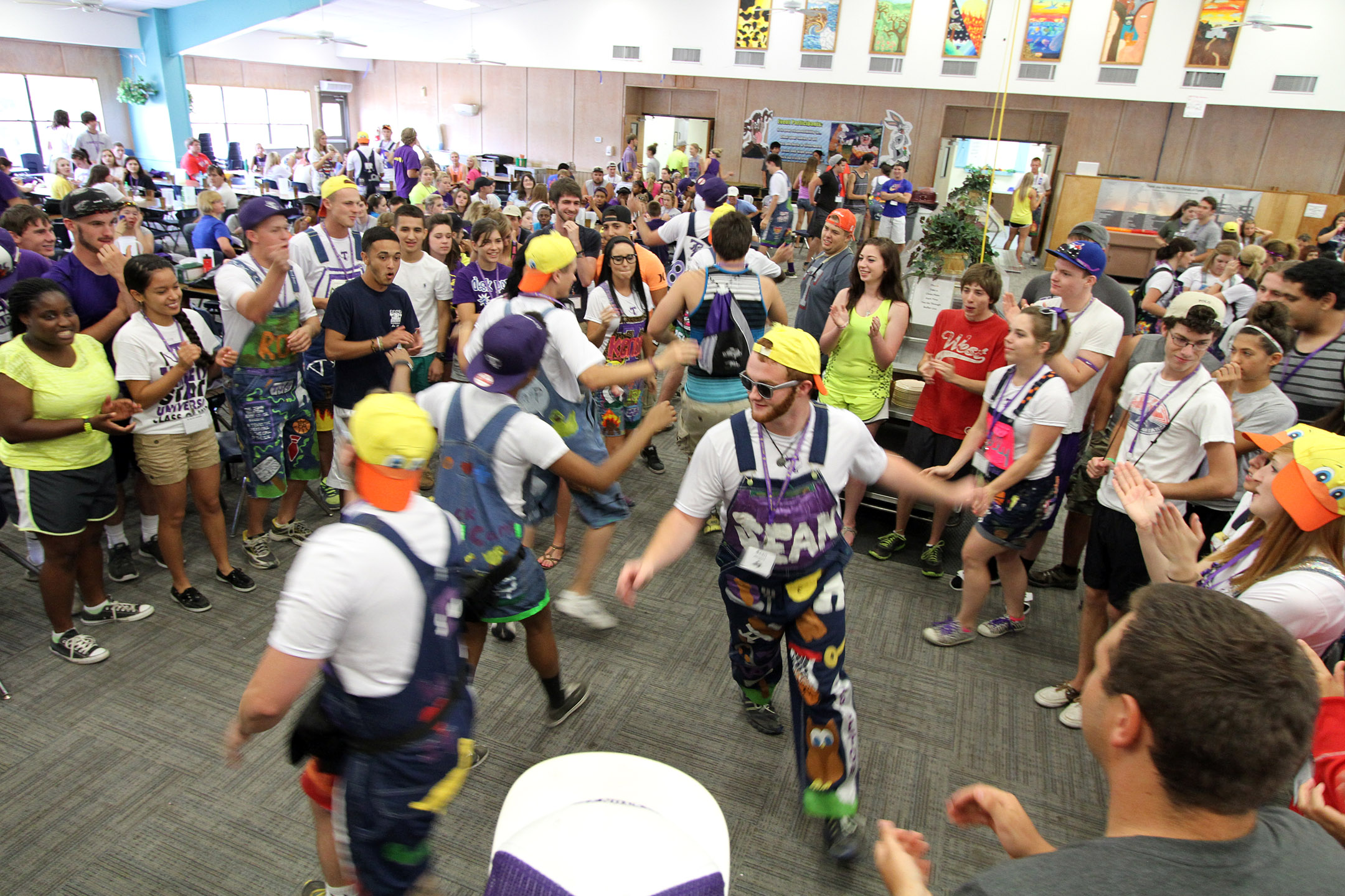 2d5c070aa1084 Duck Campers and TTM leaders dance during lunch. Courtesy Photo by Kurt  Mogonye, Tarleton State University