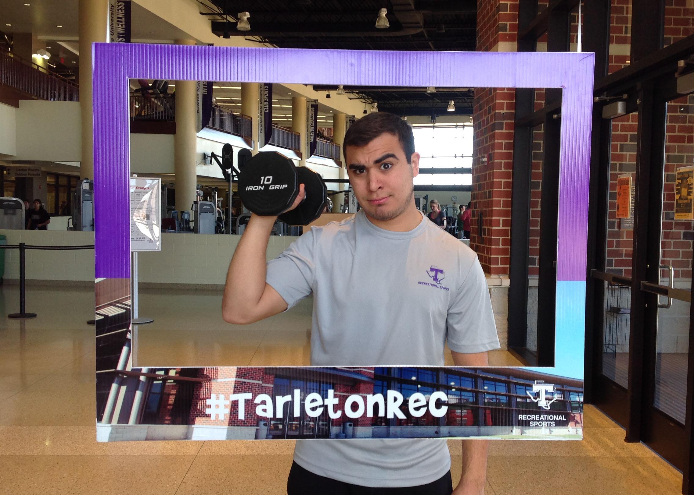Junior Chris Magallon poses in the Recreation Sports Center.  (Bethany Kyle, Texan News Service)