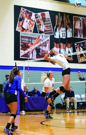The TexAnns dominated Howard Payne Sept. 8 in front of a packed Wisdom Gym.(Photo from Tarleton State University)