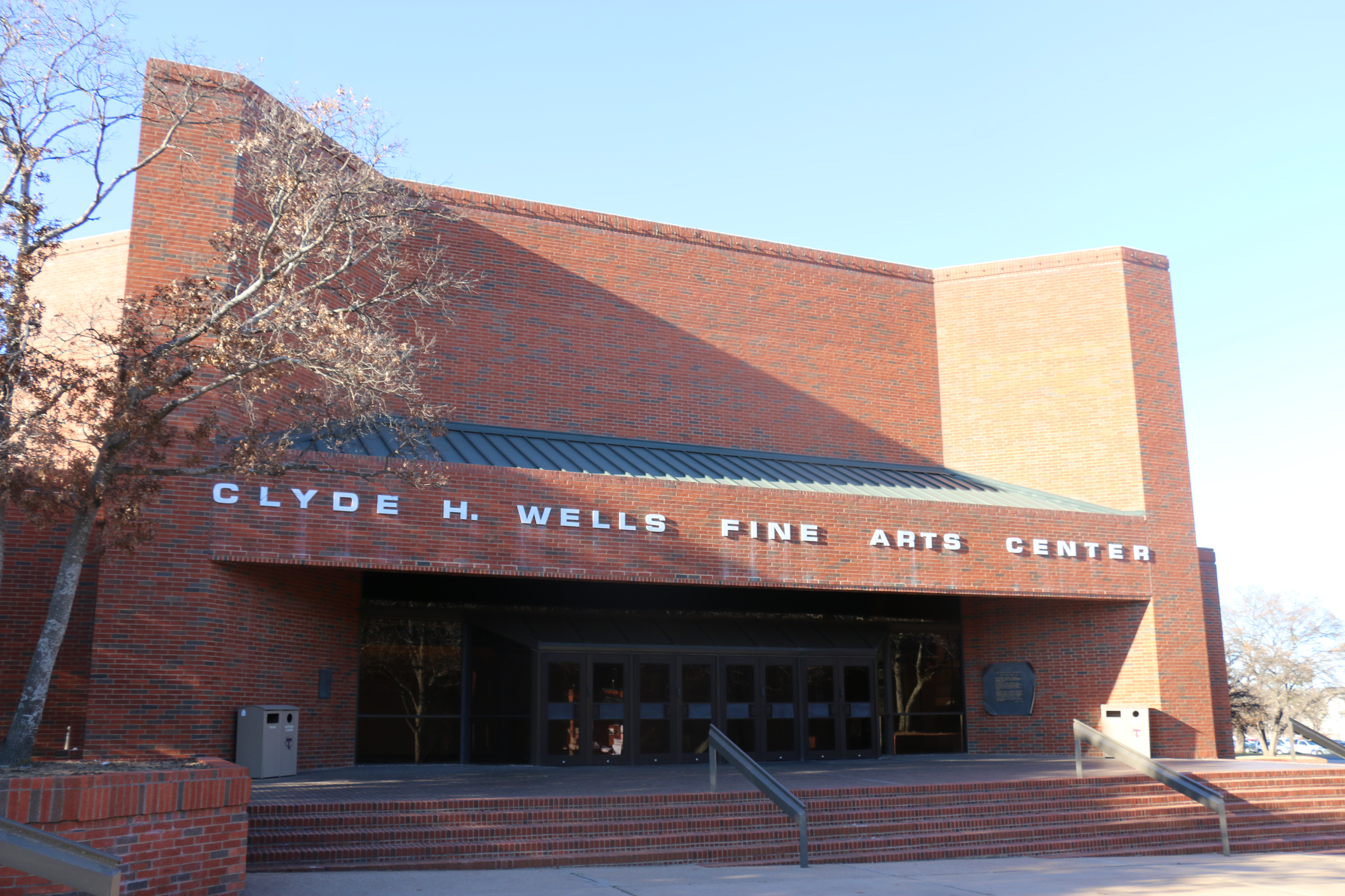 The Clyde H. Wells Fine Arts Center is the building on campus where most fine arts classes take place. Photo by Forrest Murphy