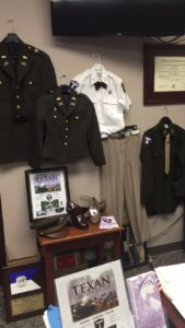 The Corps of Cadet's male and female uniforms will be seen this semester on campus.  Photo by Rebecca Hernandez, Texan News.