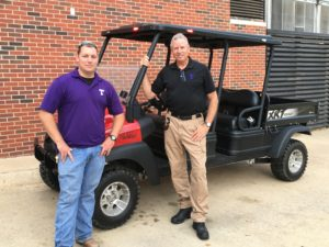 Brandon Lockenour, risk management technician, and Kirk Turner are prepared for all emergencies on campus. Photo courtesy of Kirk Turner.