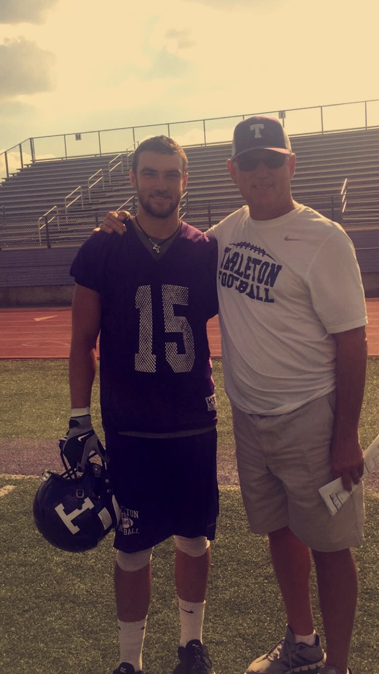 Texan's father and son duo share the football field