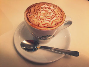 A cappachino served at the University of Urbino in Italy. Photo by Sarah Titus.