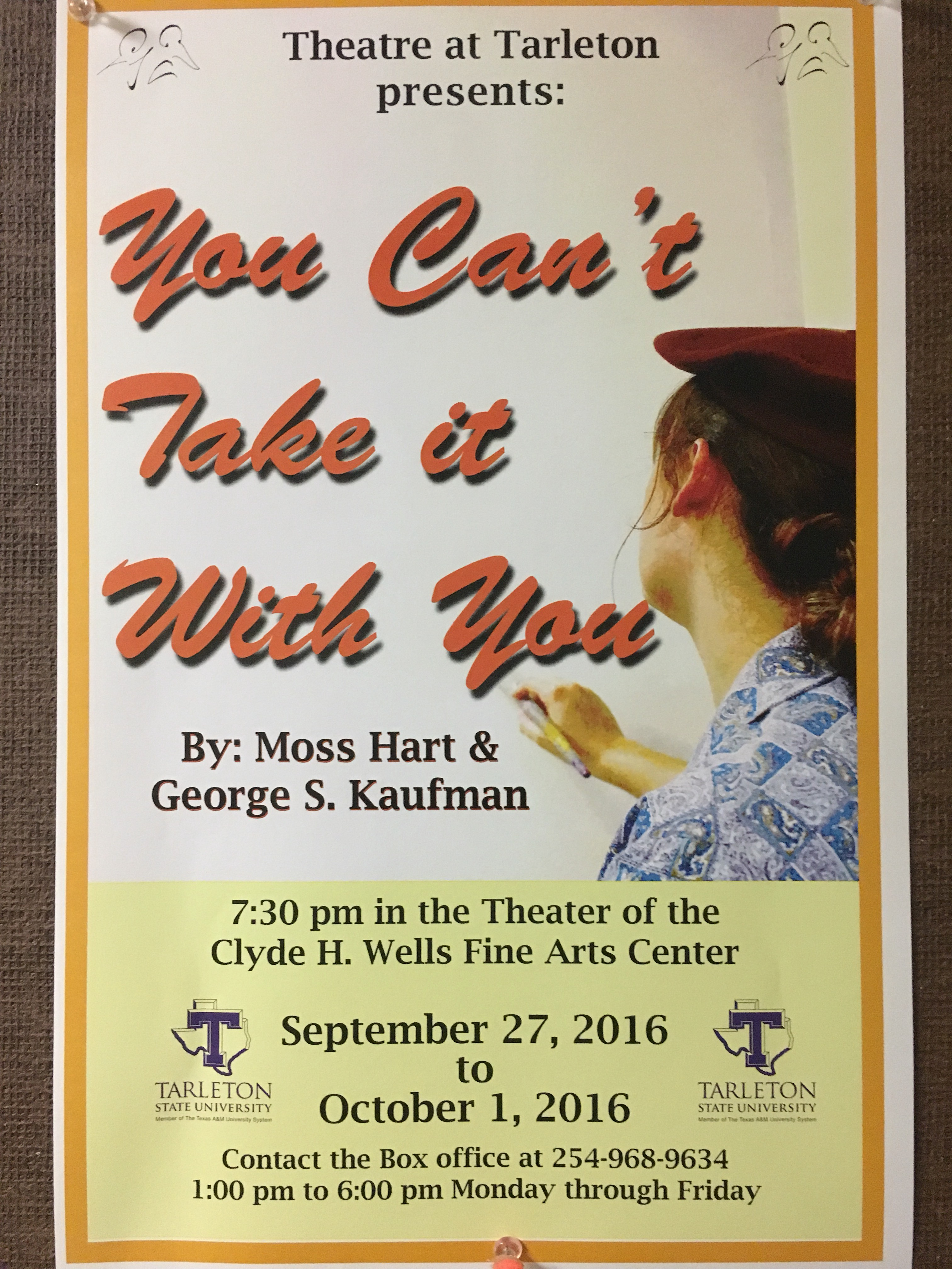 Tarleton theater's first show of the season: 'You Can't Take It With You'