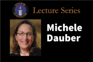 Michele Dauber came to lecture at Tarleton State University on Oct. 5.  Photo courtesy of Tarleton.edu.