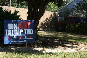 A home on Long Street expresses the frustration of many voters. Photo by Haley Watson
