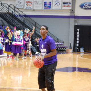 Deshawn Riddick is a junior on the men's basketball team. Photo by Channing Flatt