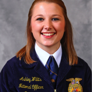 Ashley Willits was announced the Eastern Region Vice President at the 89th FFA National Convention and Expo. Photo courtesy of the National FFA Association