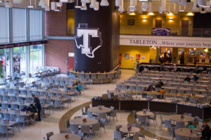 The Tarleton dining hall serves over a million meals a semester