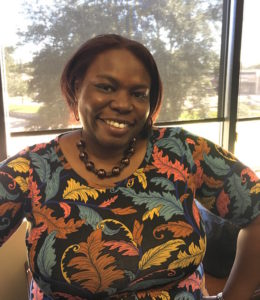 "Dr. Sharhonda Maclin is a new hire in the Division of Student Life, focusing on ""student publications,"" rodeo, student assessment and any student life marketing. Photo by DeShonna Mitchell, Texan News."