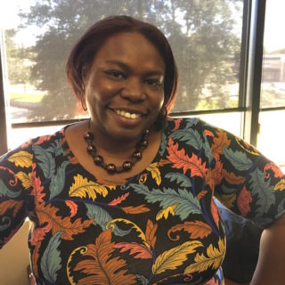 """Dr. Sharhonda Maclin is a new hire in the Division of Student Life, focusing on """"student publications,"""" rodeo, student assessment and any student life marketing. Photo by DeShonna Mitchell, Texan News."""