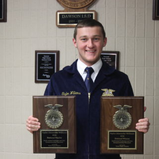 Taylor Williams won an Agricultural Proficiency award at the 89th FFA National Convention and Expo. Photo courtesy of Taylor Williams