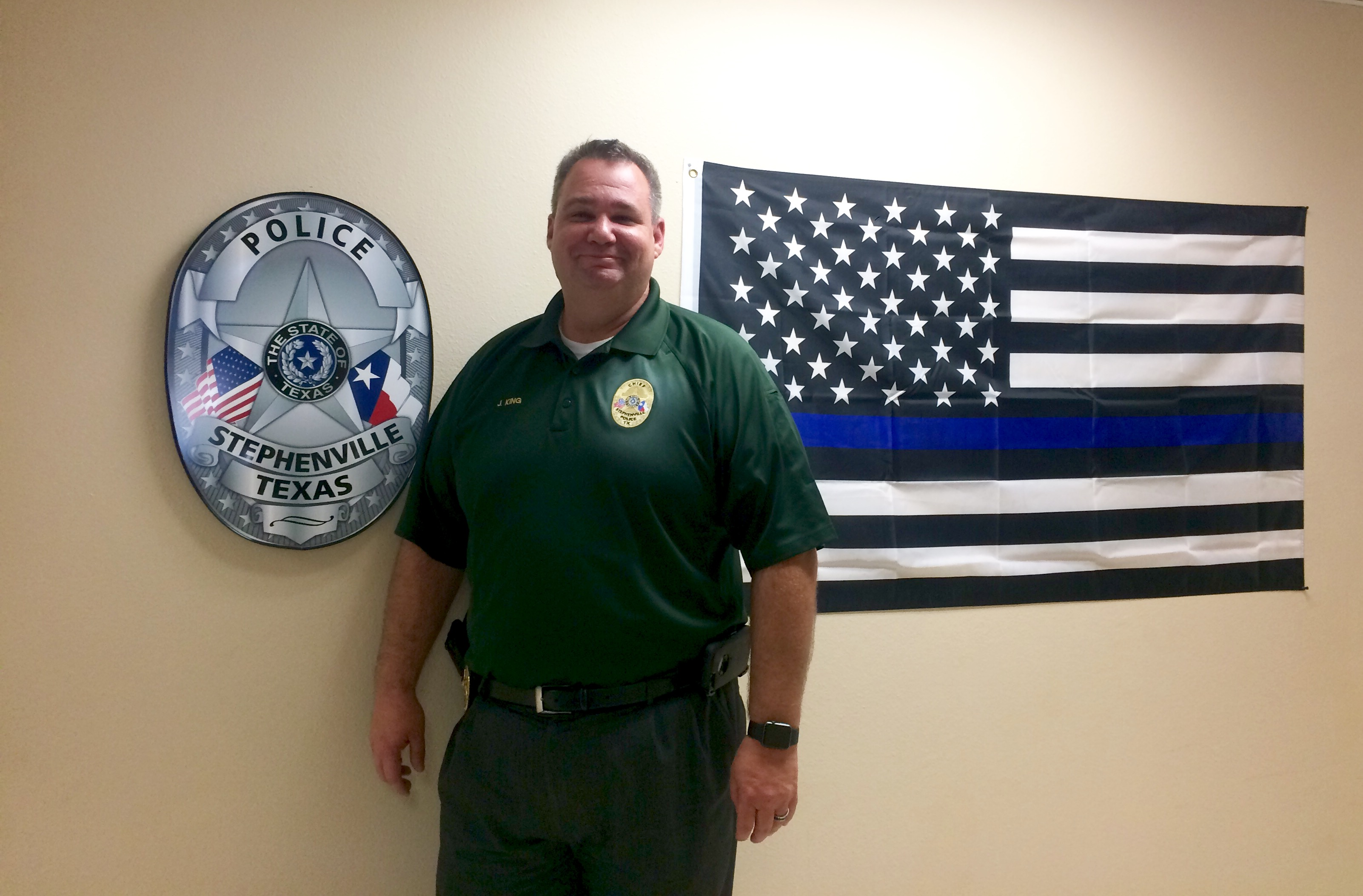 Chief of Police Jason King reaches 20 years of service with Stephenville Police Department