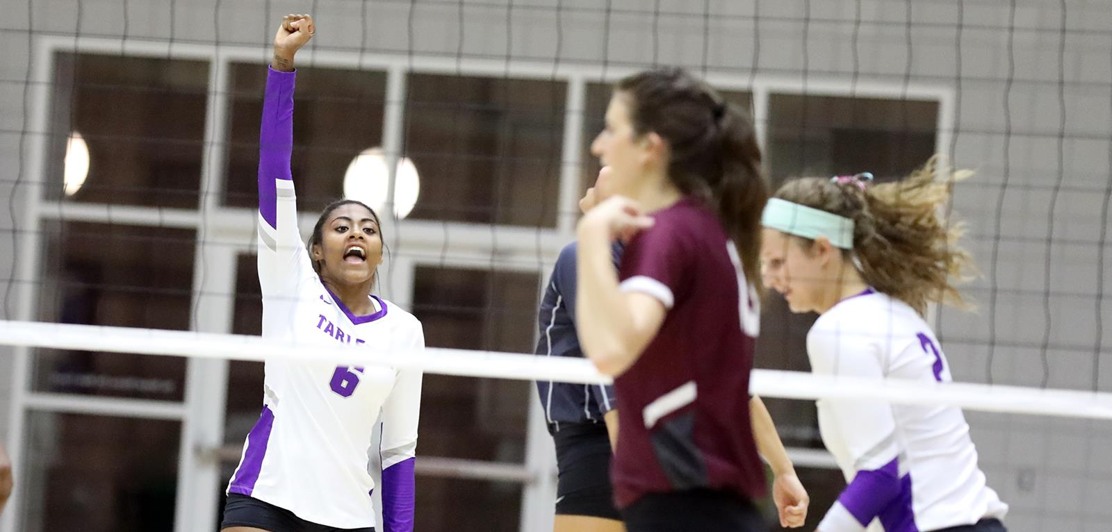 TexAnn Volleyball claims victory against West Texas A&M in three set game